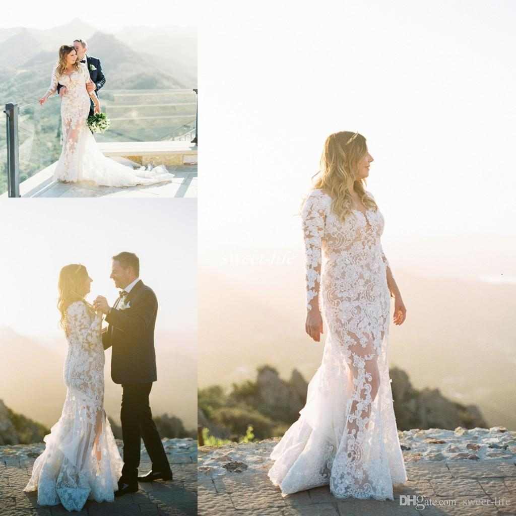 Sexy bohemian long sleeve plus size wedding dresses see for Chelsea houska wedding dress designer