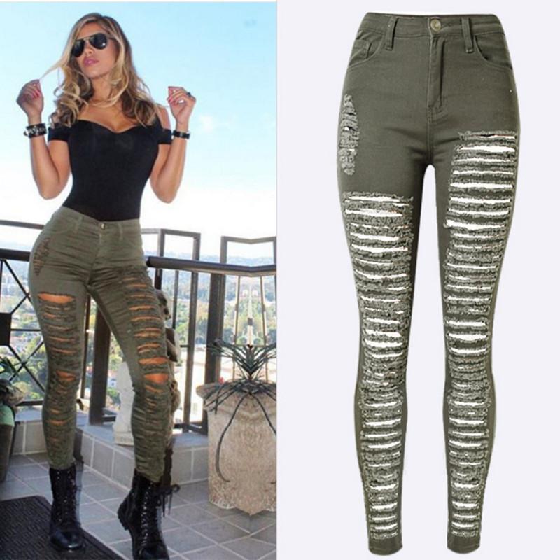 Discount Ladies Destroyed Jeans   2017 Ladies Destroyed Jeans on ...