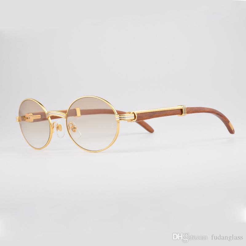 Real Gold Glasses Frames : Luxury 18k Goldsunglasses Metal Frames Glasses Men Real ...