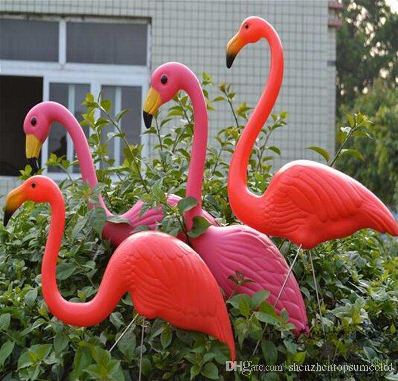 Pink Plastic Flamingos Garden Accessories Crafts Landscape Home Decor Yard  And Lawn Ornament Wedding Jardin Decoration In Garden Ornaments Pink  Plastic ...