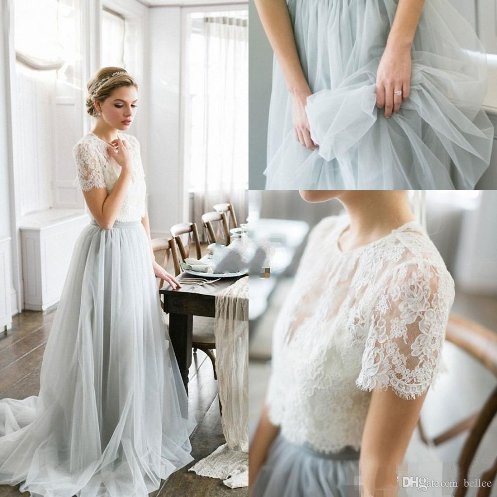 2017 country style bohemian bridesmaid dresses a line jewel short 2017 country style bohemian bridesmaid dresses a line jewel short sleeves sweep train bridesmaid gowns with lace tulle formal dresses beach bridesmaid ombrellifo Choice Image