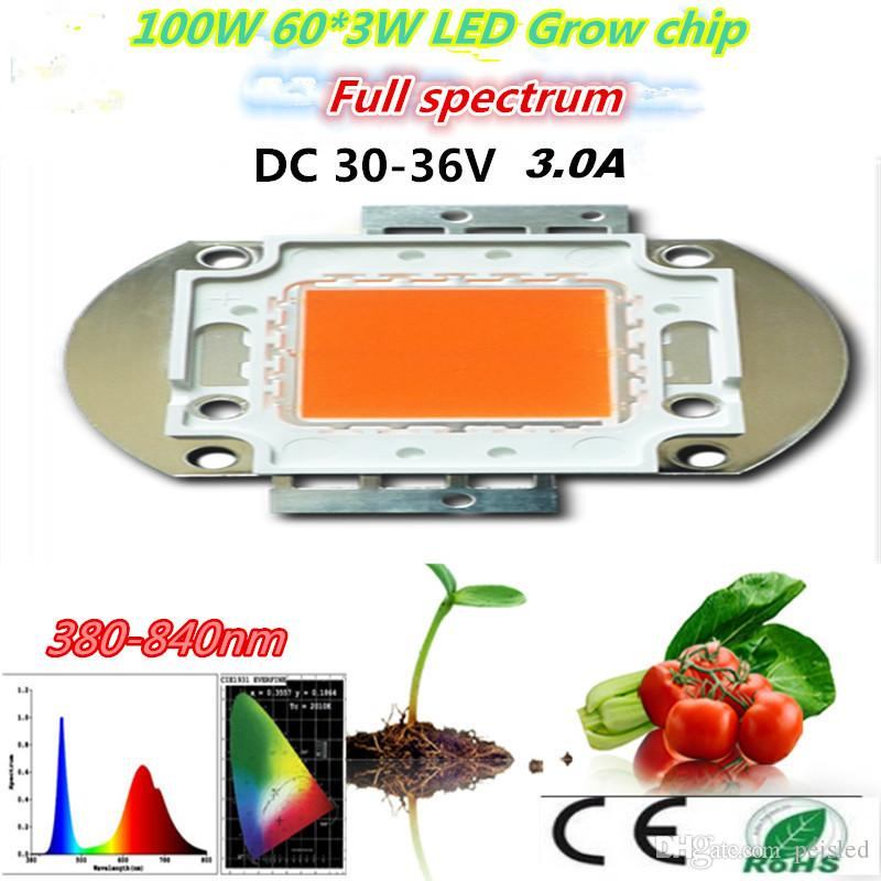 Full Spectrum led grow Chip cob 100W 60 * 3w 3w Led Grow puce, pour diy LED cult