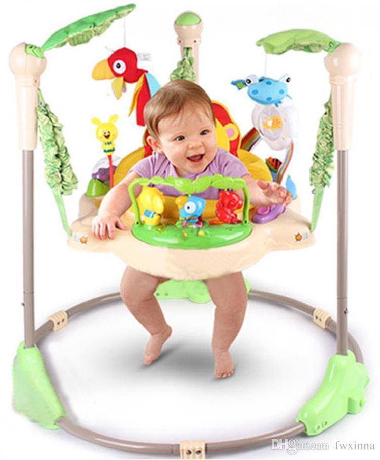 line Cheap Rainforest Jumperoo Baby Bouncer Rocking