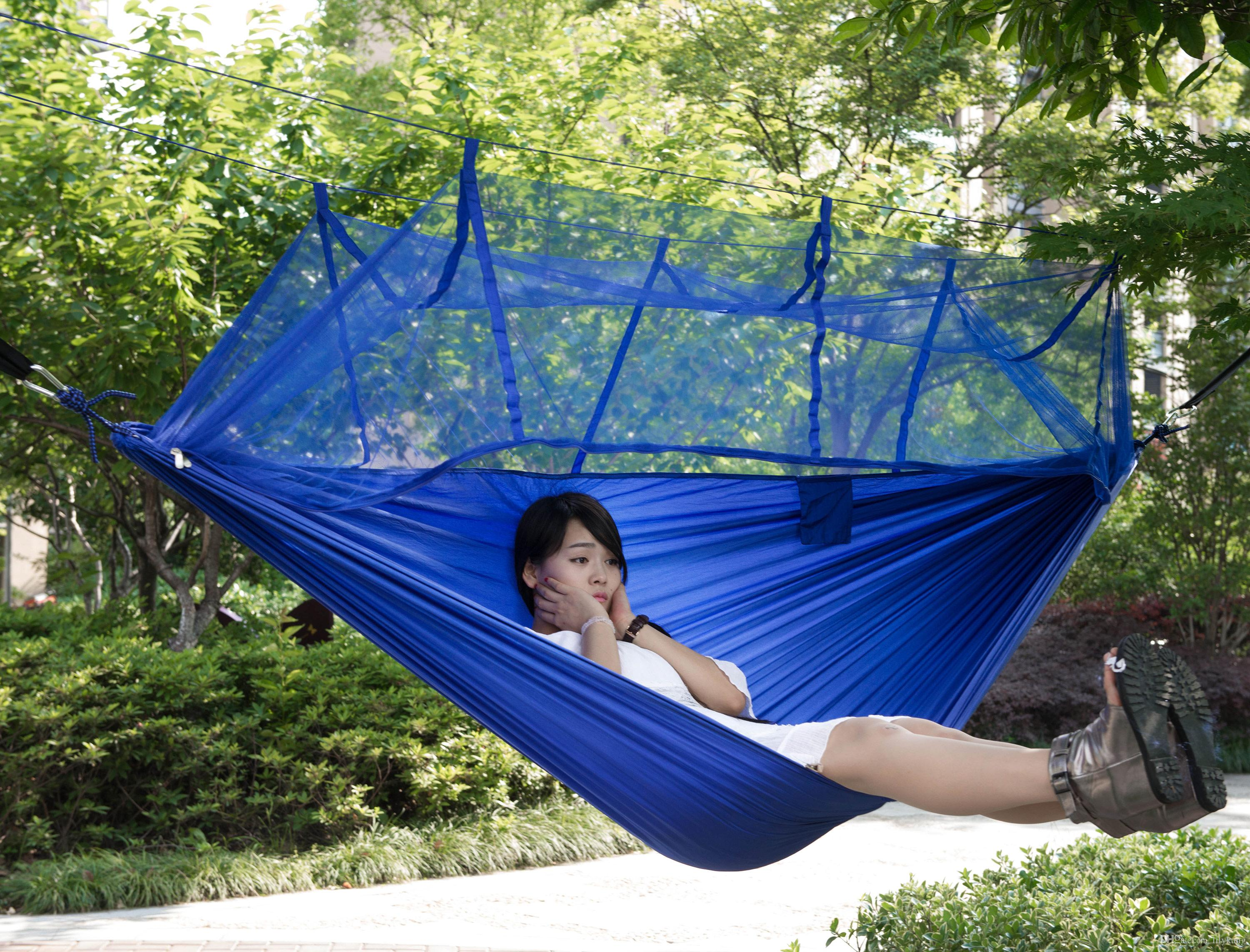 Outdoor Furniture Parachute Fabric Hiking Hammocks Swing Bed Swing ...