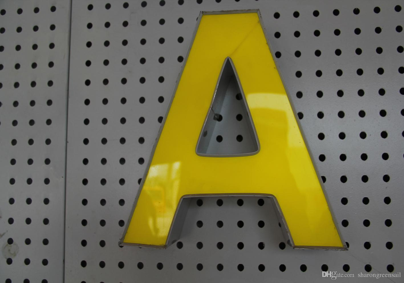 customized 3d channel letters logo type acrylic face stainless steel led front lit sign