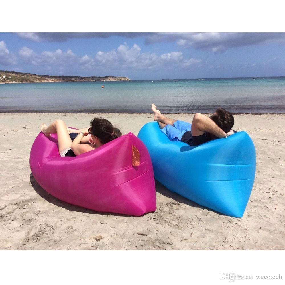 Outdoor Inflatable Air Sofa Waterproof Air Filled Portable Lay Bag