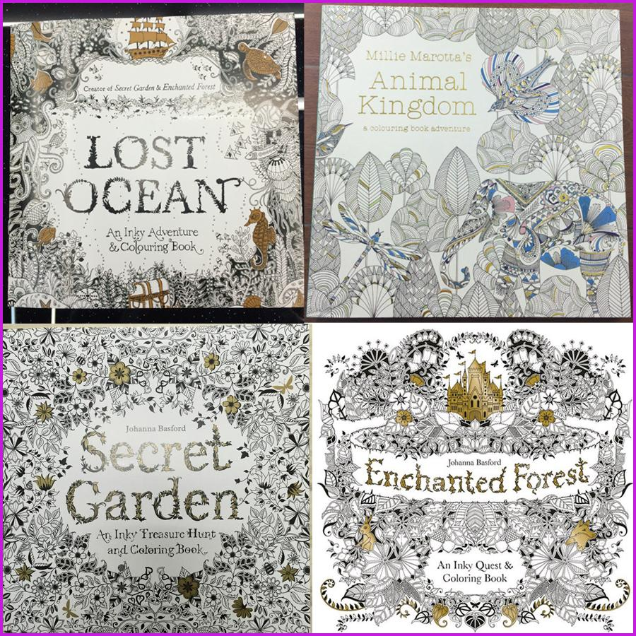 Secret Garden Coloring Books Relieve Stress For Kids Adult