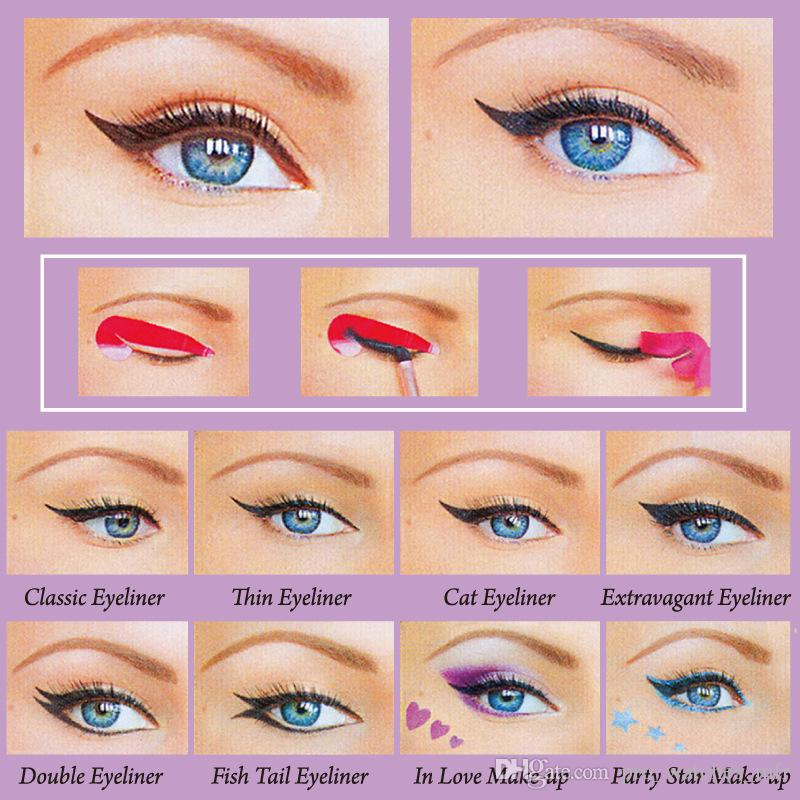 4 Style Eyes Makeup Set New Fashion Eyeliner Stick Stencil ...