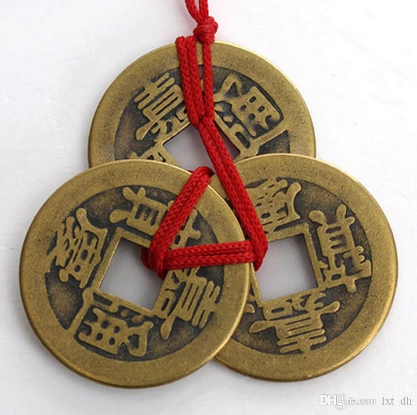 2017 of 3 chinese feng shui coins for wealth success good - Feng shui good luck coins ...