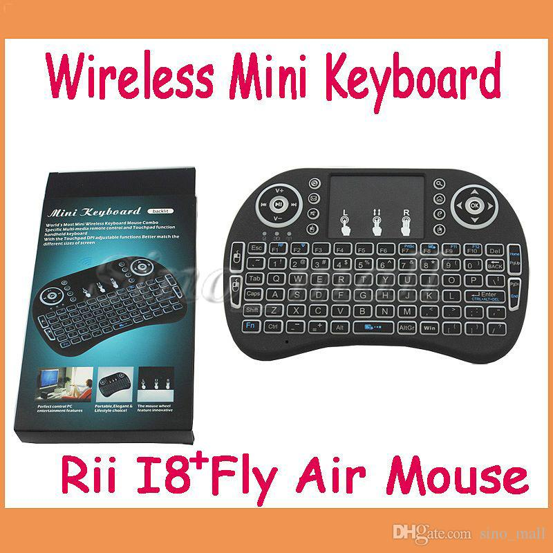 Mini clavier sans fil Rii I8 + Multi-media 2.4GHz Avec Touchpad Backlight Air Fl