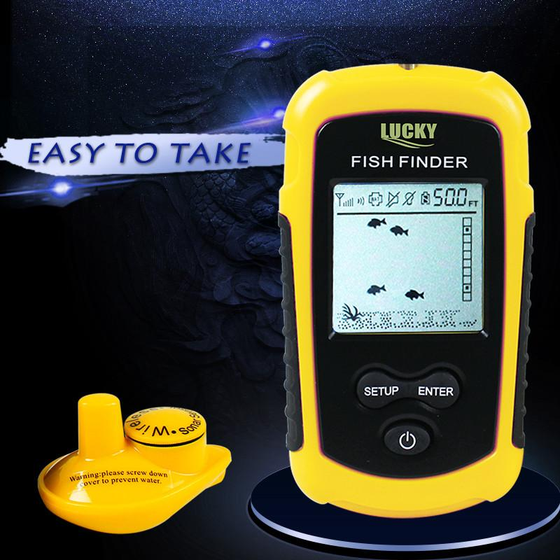 lucky wireless fish finder sonar fishfinder 40m depth range ocean, Fish Finder