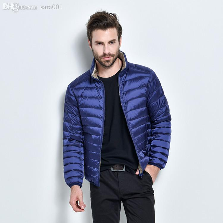 2017 Fall 2016 Winter Duck Down Jacket Men 90% Down Content Thin ...