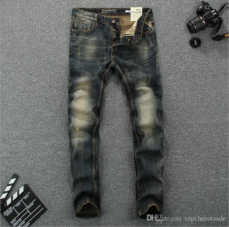 best men ripped straight jeans italy brand robin jeans for. Black Bedroom Furniture Sets. Home Design Ideas