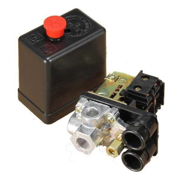 Air compressor pressure switch control air compressor valve 4 port