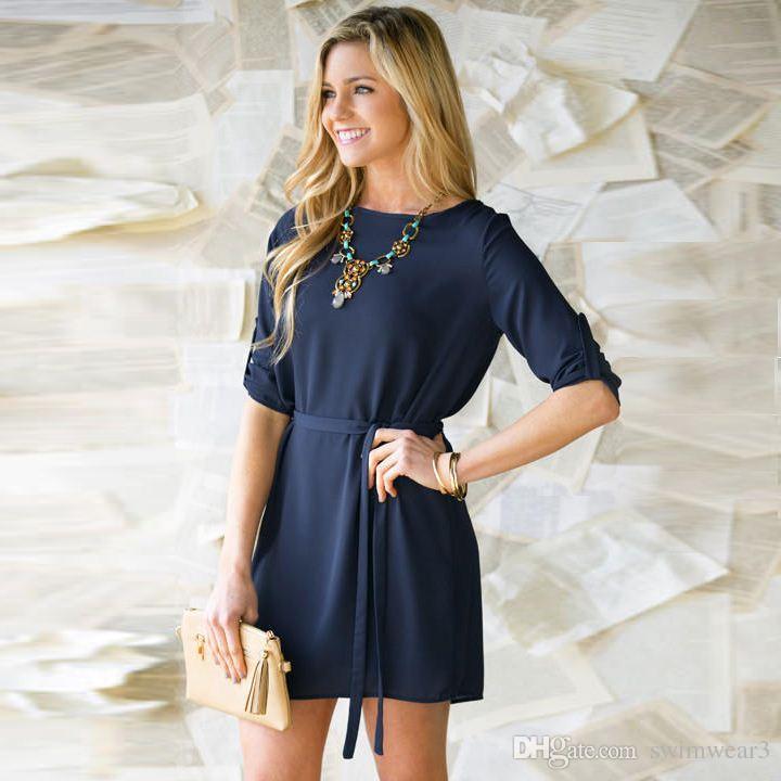 Long sleeve casual fall dresses