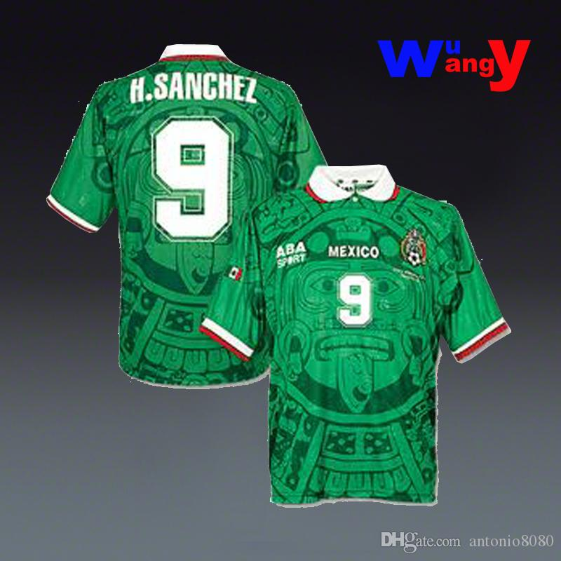 2017 Free Ship 1998 World Cup Mexico Home Rugby Jerseys