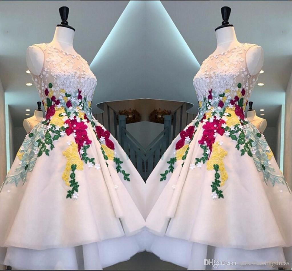 Knee length corset prom dresses