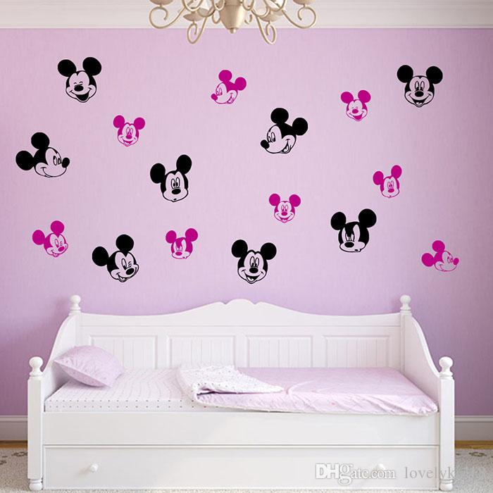Lovely Mickey Mouse Wall Stickers Cartoon TV Wall Decals For Kids Room  Nursery Room Kindergarden Home Wall Decor WS277 Mickey Mouse Wall Stickers  Mickey ...