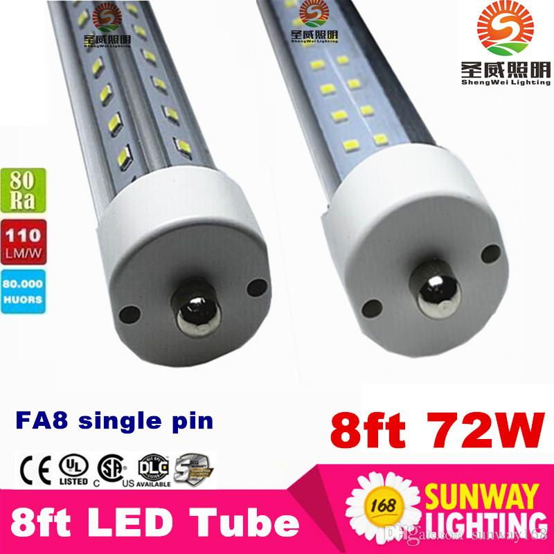 Pipe simple a conduit tube fa8 tube 72W V-Shaped et Dural fil Double Sides smd 2