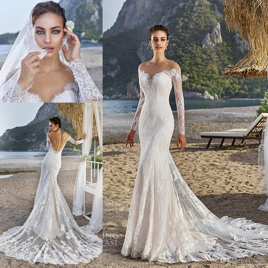 Eddy K 2017 Junoesque Mermaid Wedding Dress Illusion