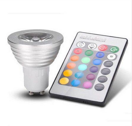 dimmable 3w spot lamp led gu10 spotlight bulb rgb light. Black Bedroom Furniture Sets. Home Design Ideas