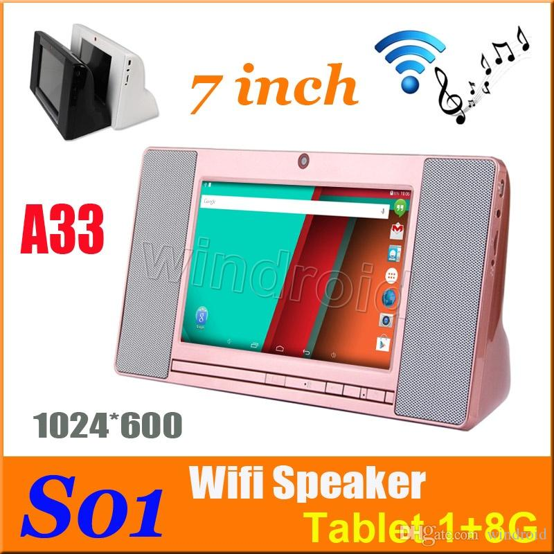 S01 WiFi Smart Speaker Sound Box 7 pouces 1024 * 600 écran Android 4.4 Allwinner