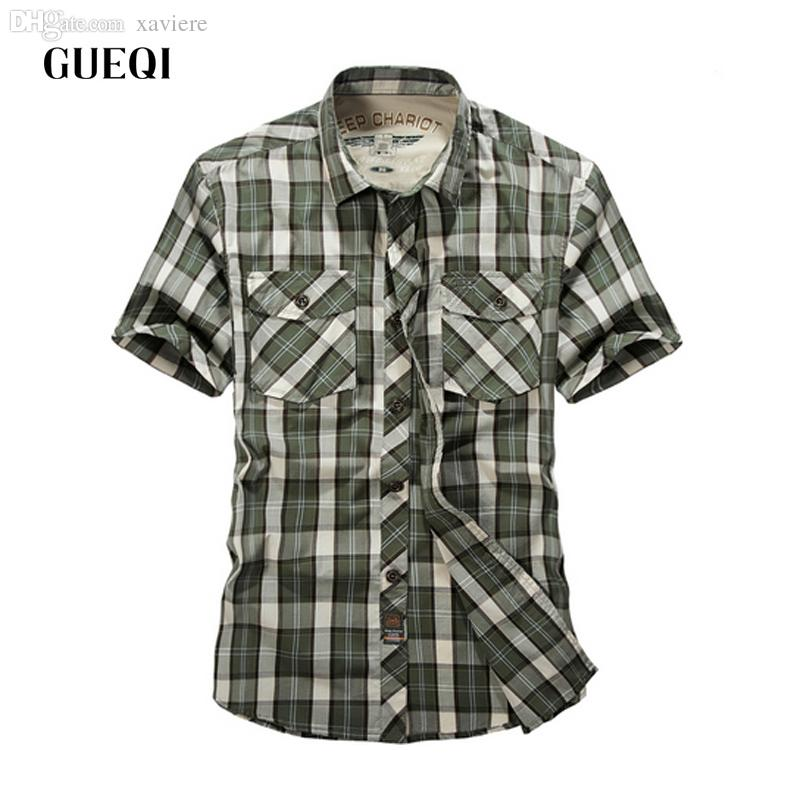 Best Wholesale 2016 Mens Green Plaid Shirts Western Shirt