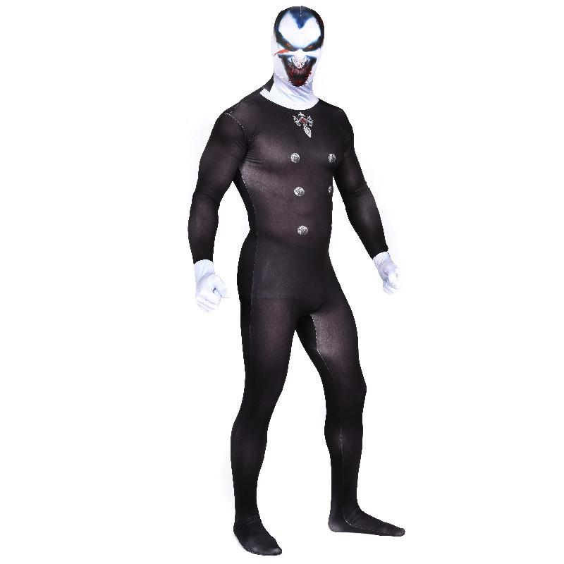dracula cosplay costume black vampire jumpsuit adult lycra spandex costumes for men full bodysuit zentai halloween party fancy dress plus s dracula cosplay