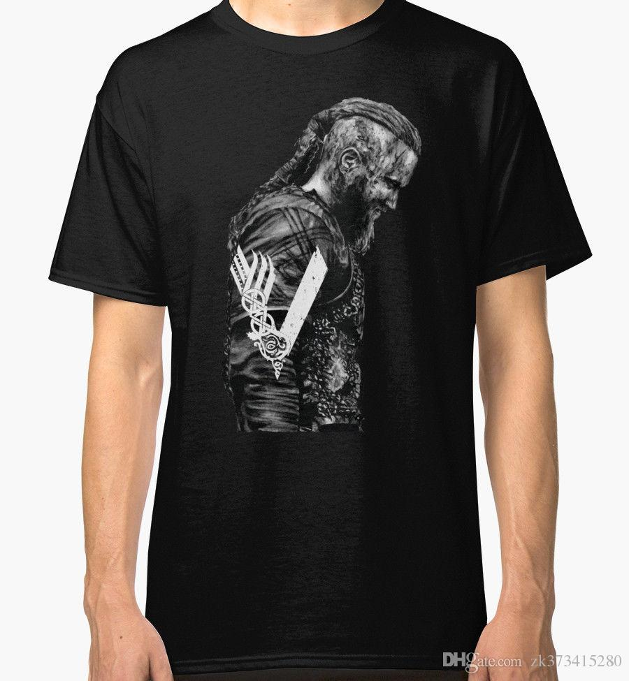 Crazy t shirts design o neck king ragnar lothbrok for Crazy t shirt designs