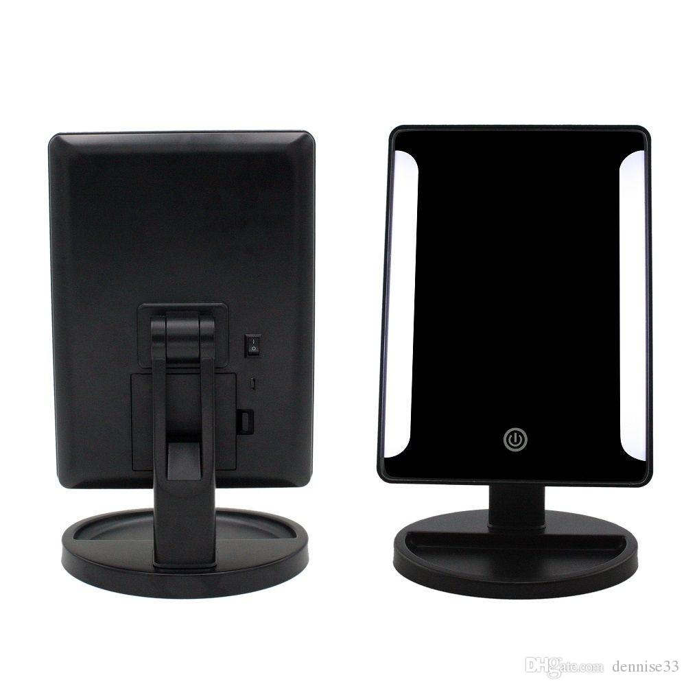 USB Operate LED Make Up Mirror Cosmetic Desktop Portable Compact LED Lights  Lighted Travel Makeup Mirror for Women Black White LED Makeup Mirror LED  Lighted  USB Operate LED Make Up Mirror Cosmetic Desktop Portable Compact  . Portable Vanity Mirror With Lights. Home Design Ideas