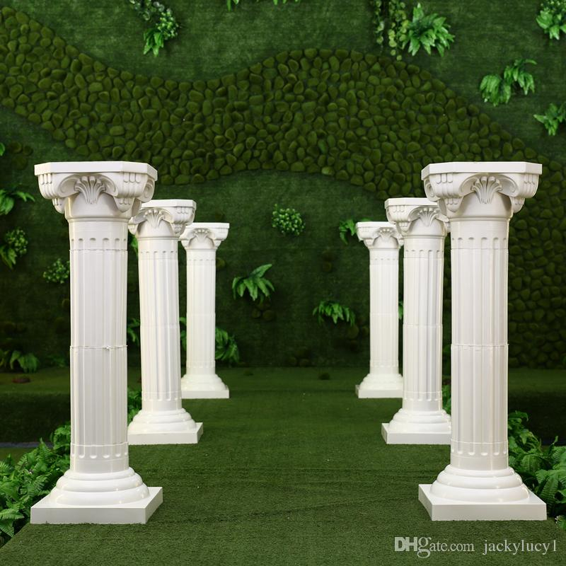 White Plastic Roman Columns Road Cited For Wedding Favors Party Decorations Hotels Shopping
