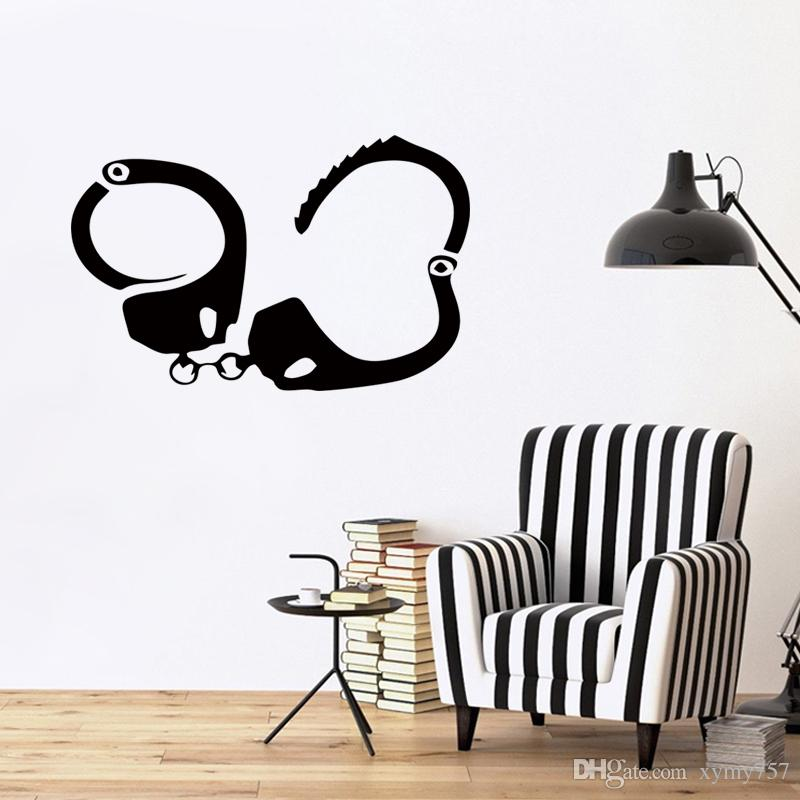 Judicial Police Equipment Handcuffs Funny Car Stickers Vinyl Wall Art Decals  Suitable For Home Decoration Bedroom Living Room Diy Vinyl Sticker Wall  Sticker ... Part 36