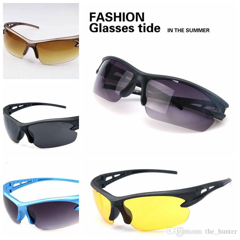 best sport sunglasses  Men Driving Cycling Sport Sunglasses Unisex UV Professional Sport ...