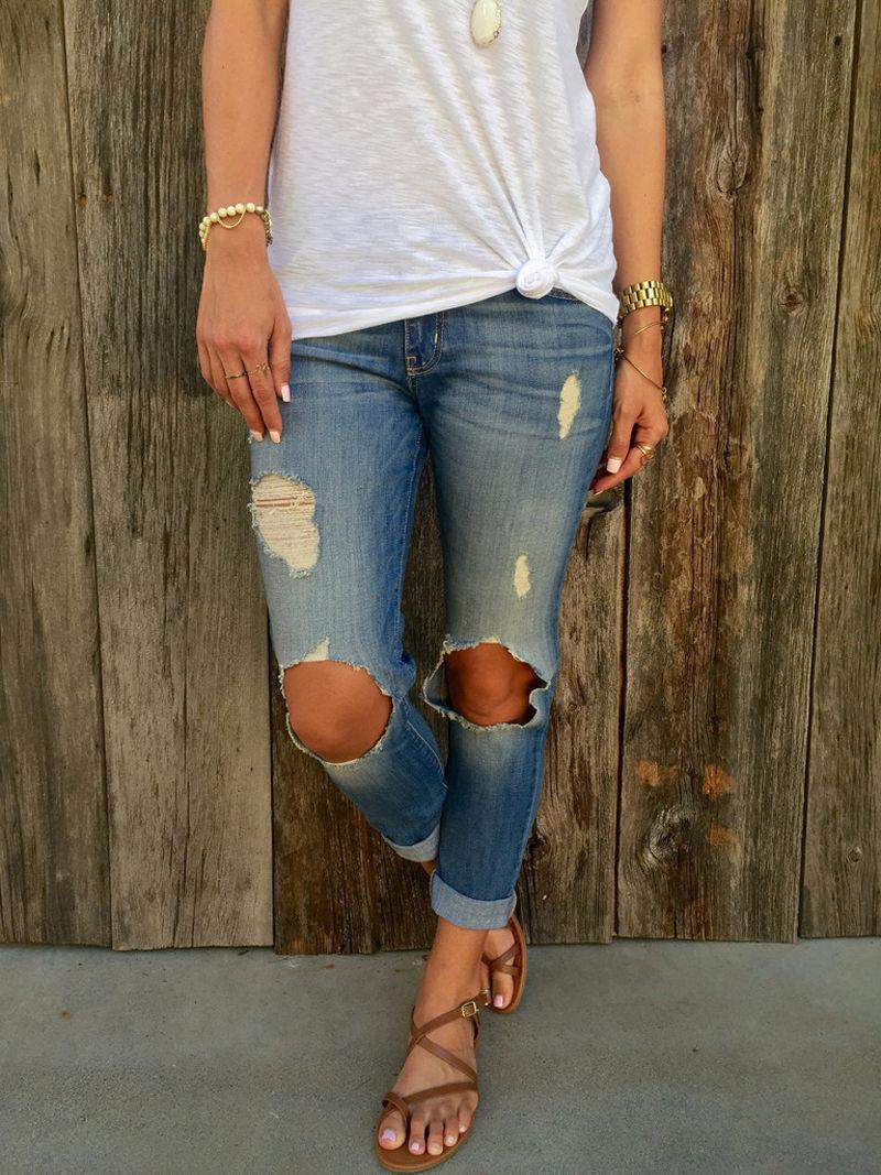 2017 Ripped Jeans For Women Boyfriend 2017 High Waist With Holes ...