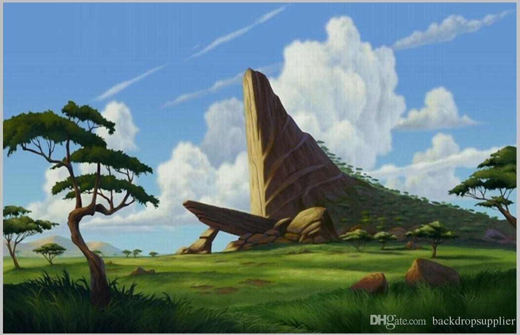 2018 7x5ft Lion King Rocks Grassland
