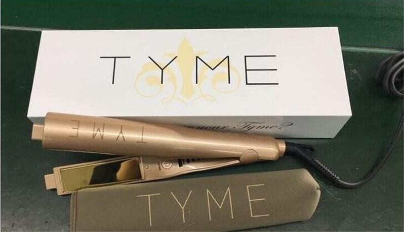 Tyme Iron Gold Plated Titanium Plates Unique 2 In 1 Iron