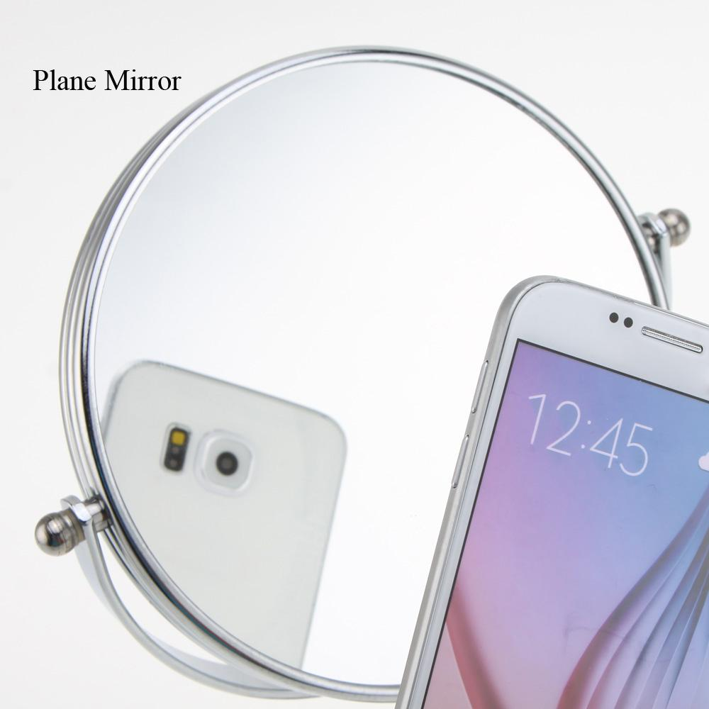 Inch X Magnification Circular Makeup Mirror Dual Sided Round - Mirror on a stand vanity