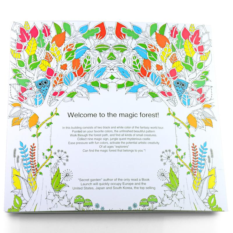 24 Pages New Enchanted Forest English Edition Coloring Book Children Adult Relieve Stress Kill Time Painting Drawing H2179 Online