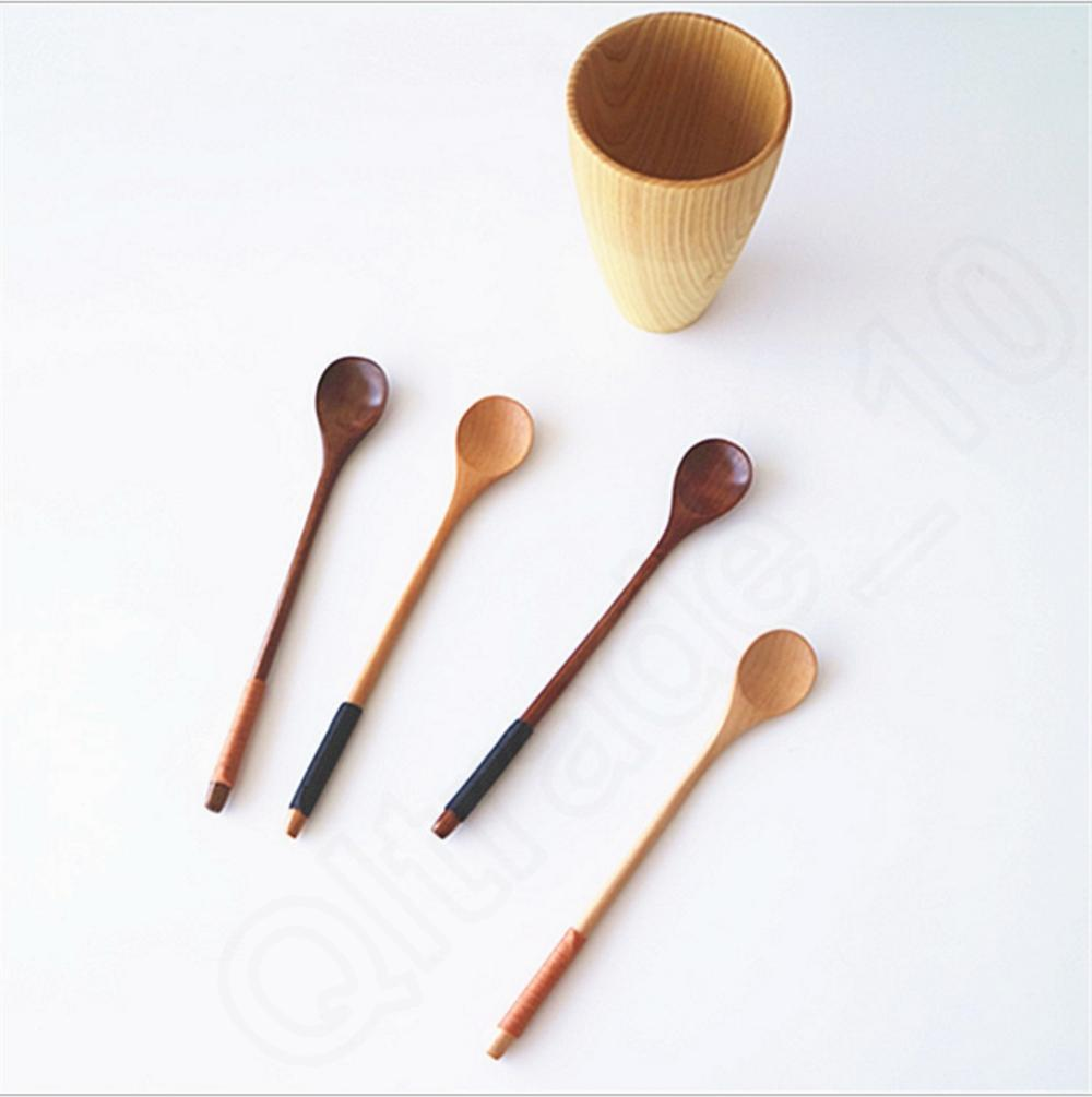 2017 Wooden Spoon Honey Mixing Condiment Ladle Seasoning Spoon Smooth Surface Dedicate Handmade
