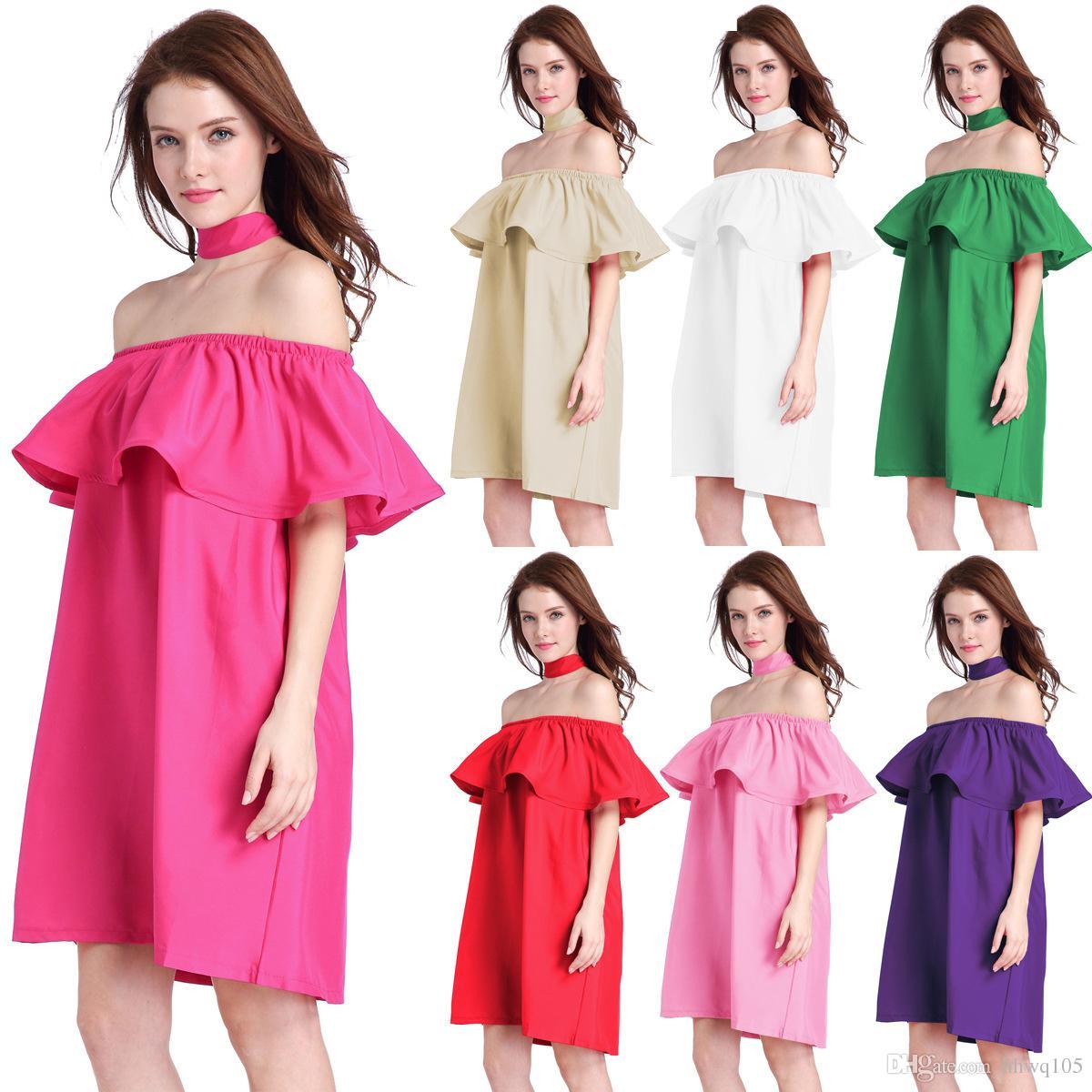 Модное простое платье