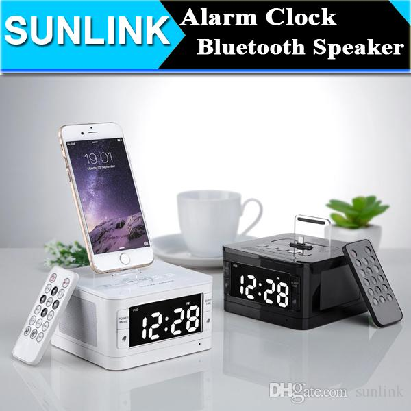 lcd digital fm radio alarm clock music dock charger station portable audio music wireless. Black Bedroom Furniture Sets. Home Design Ideas
