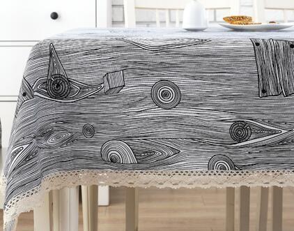 New Fashion Style Simple Modern Linen Tablecloths Cloth Round Table  Tablecloth Table Table Cloth Cotton Rectangular Garden Durable Online With  $17.47/Piece ...