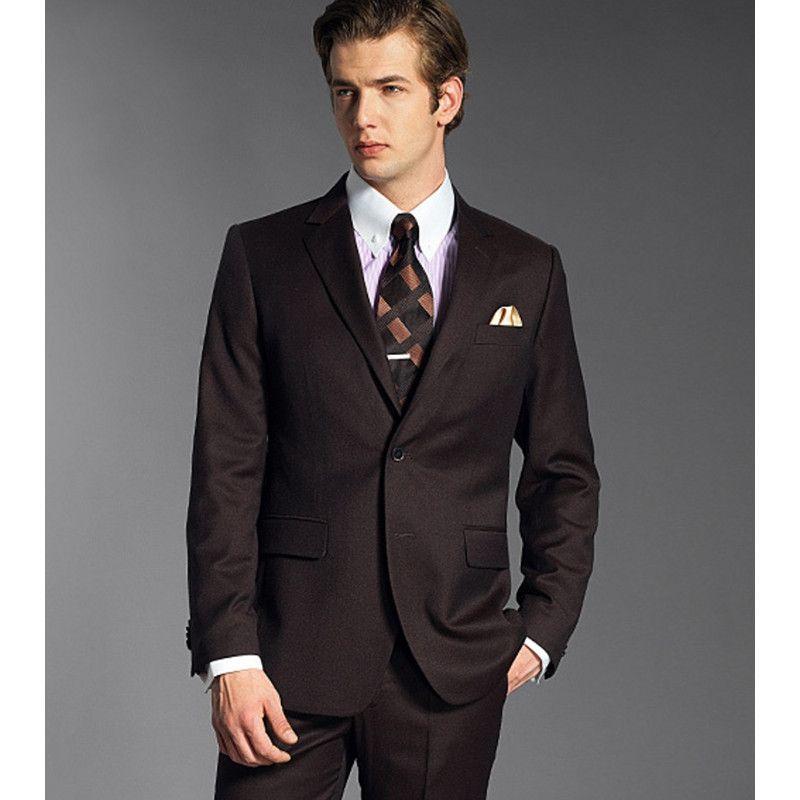 New Style Custom Made Groomsmen Notch Lapel Groom Tuxedos ...