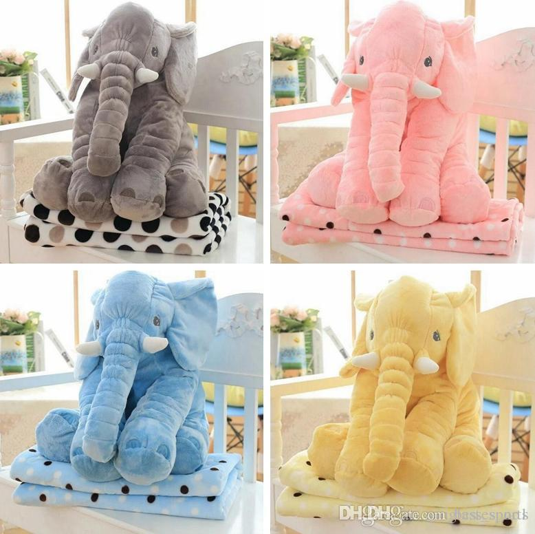 Plush Animal Pillow Blanket : Pillow+Blanket60cm Elephant Plush Pillow Blankets Animal Stuffed Dolls Toys Sofa Bedding Throw ...