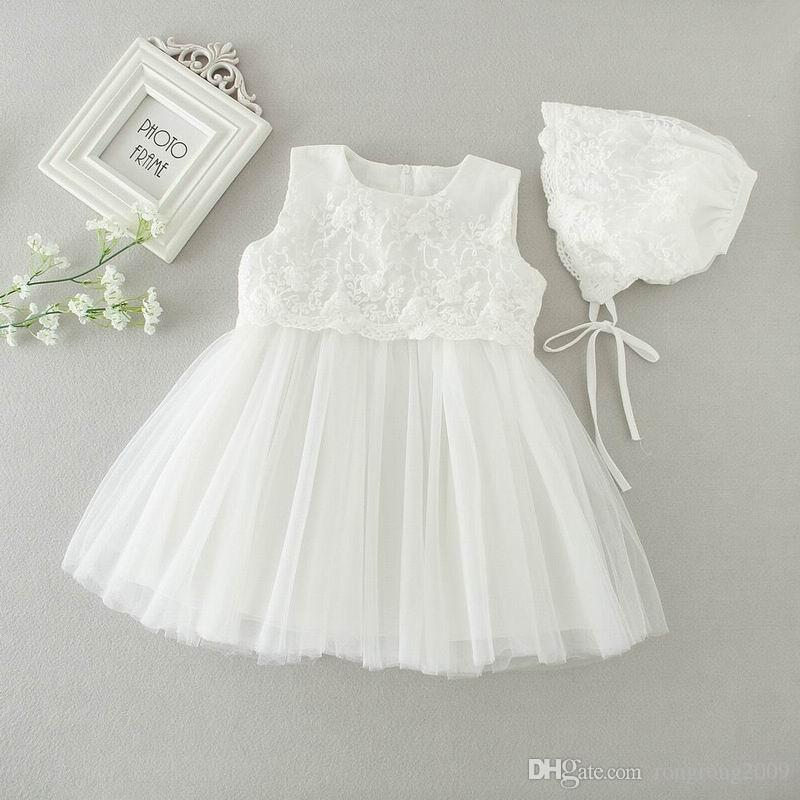 Vente au détail 2016 AUutmn New Newborn Baby Girls Princess Dress Anniversaire F