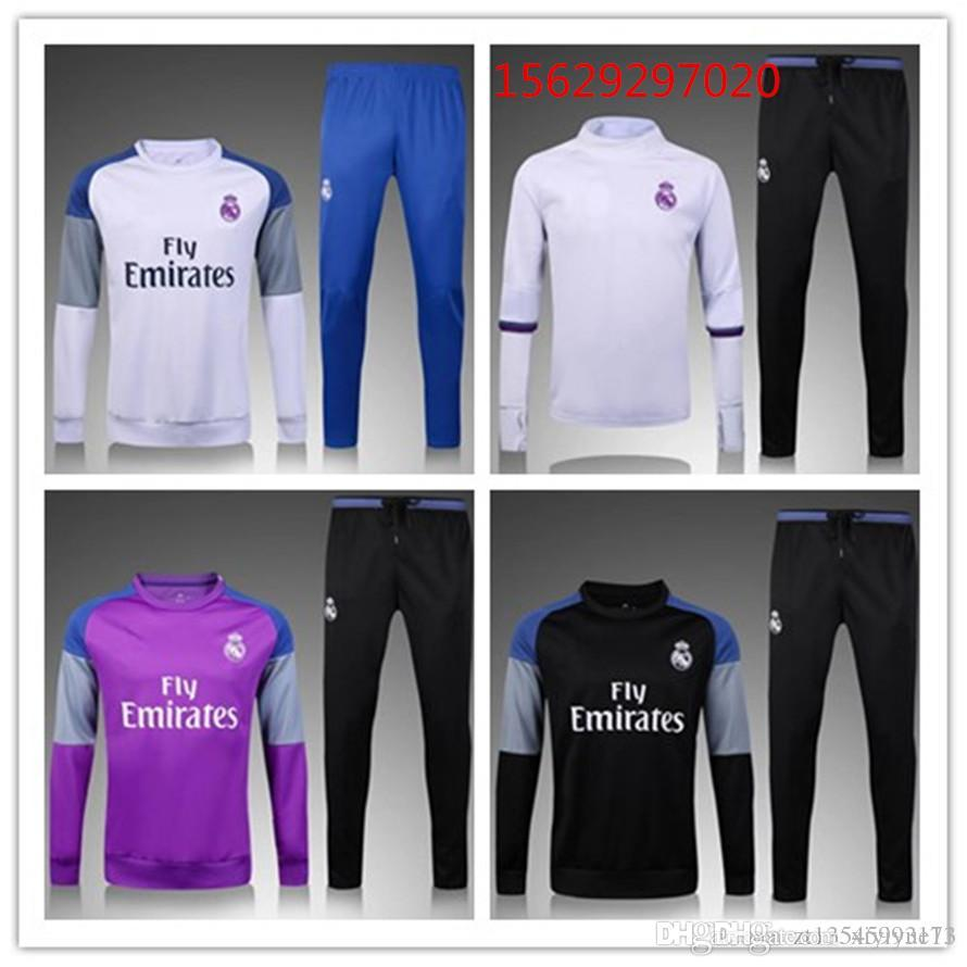 2016 17 Real Madrid chandail à épaule blanche chandail Tenue de sport Vêtements