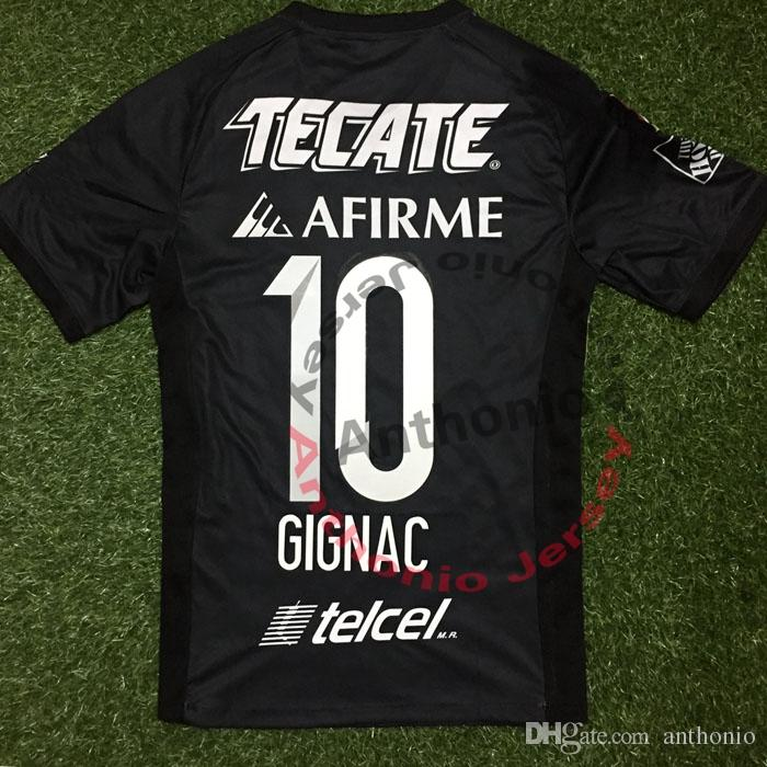 TIGRES 2017 HOME AWAY 3RD BLACK GIGNAC PERSONNALISÉ kit d'uniforme de football m