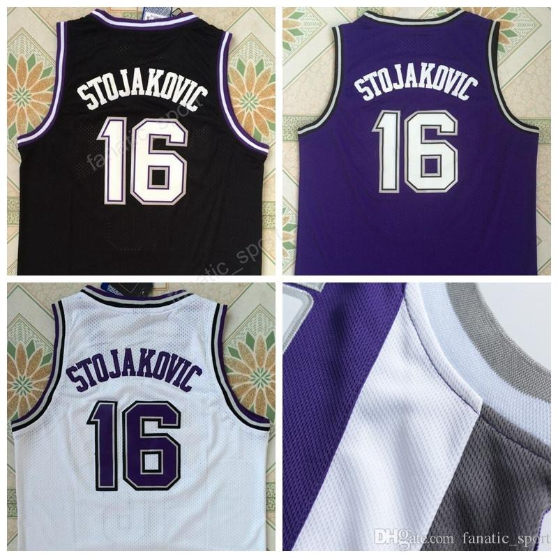Discount 16 Peja Stojakovic Jersey Men Throwback Sports Stojakovic  Basketball Jerseys Vintage All Stitched Team Color Kings ... 09e9f24b9
