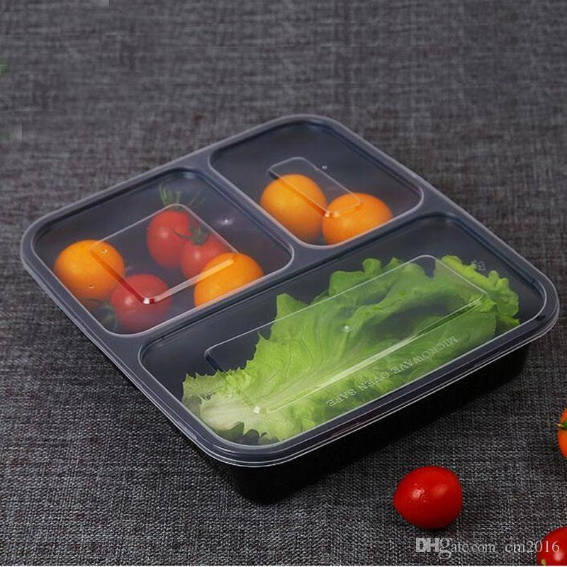 black transparent disposable lunch boxes food container snack packing boxes m. Black Bedroom Furniture Sets. Home Design Ideas