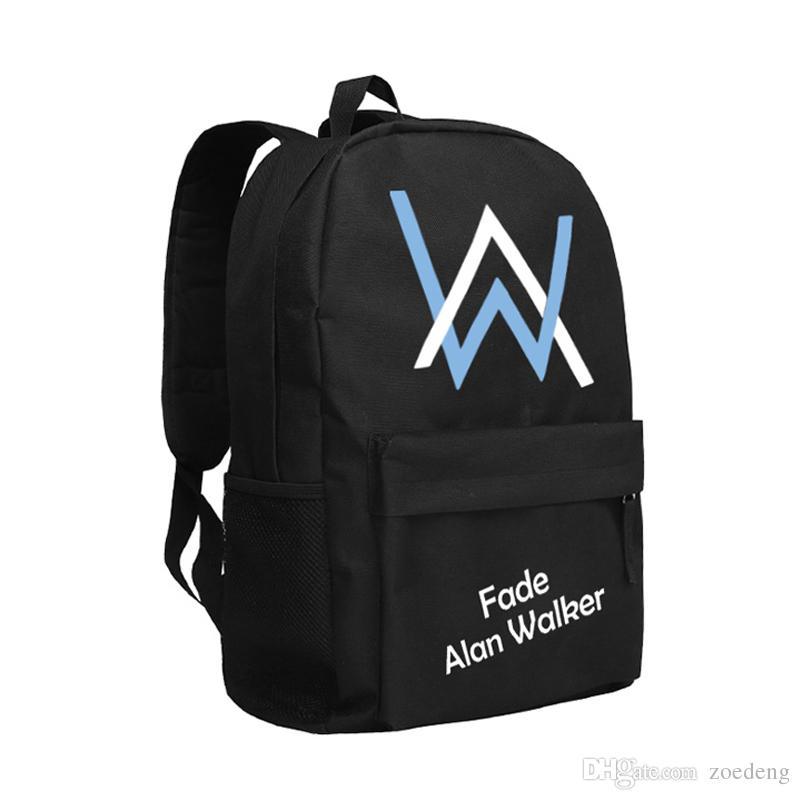 Alan Walker Backpack Boys And Girls Shoulder Bag For